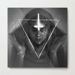Lesbian Crucifix Metal Print
