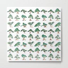 Bonsai Pattern Metal Print