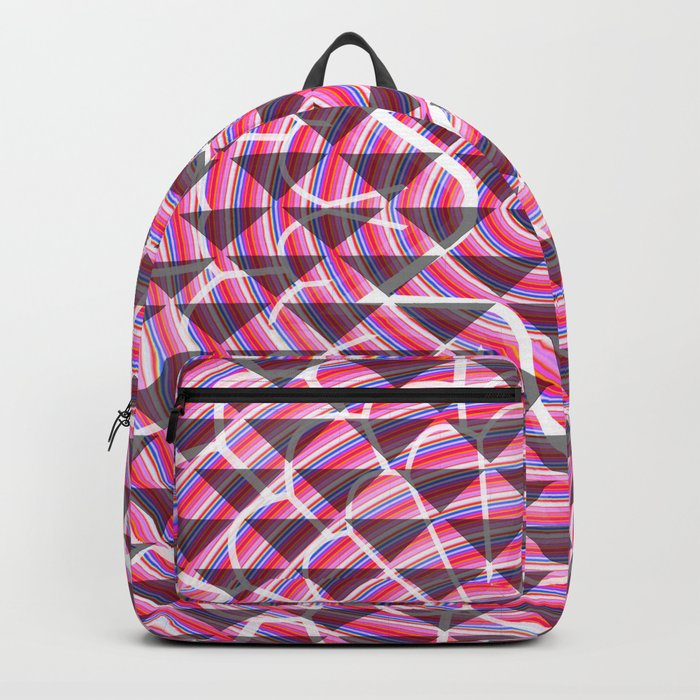 Pink lights and shadows Backpack