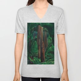 Emily Carr - Inside a Forest II - Canada, Canadian Oil Painting - Group of Seven Unisex V-Neck