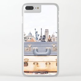 Travel Luggage Clear iPhone Case