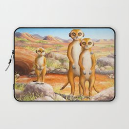Meerkat and Pup Laptop Sleeve