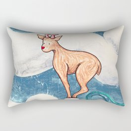 Winter Goat Rectangular Pillow