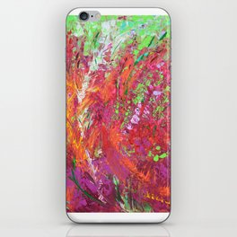 Fiery Meadow - modern palette knife abstract landscape by Adriana Dziuba iPhone Skin
