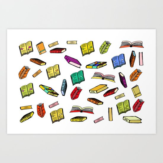 Books all over Art Print