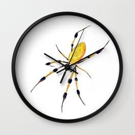 Golden Silk Orb Weaver Lineless Wall Clock