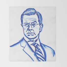 Stephen Colbert in Blue Throw Blanket