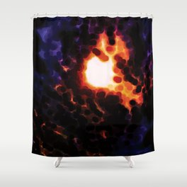 A Solar Eclipse Shower Curtain