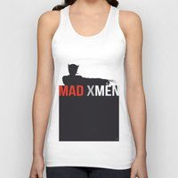 x men Tank Tops featuring MAD X MEN by Alain Bossuyt