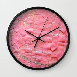 Smile on a pink toilet paper Wall Clock