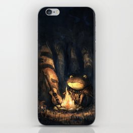 Campfire Frog iPhone Skin