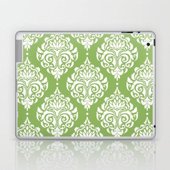 Green Damask Laptop & iPad Skin