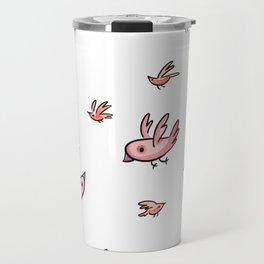 Birds fantasy pink Travel Mug