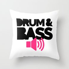 Drum & Bass Speaker Music Quote Throw Pillow
