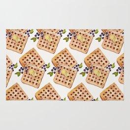 Blueberry Breakfast Waffles Rug