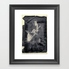 M. Ward Framed Art Print