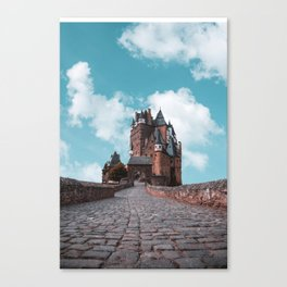 Burg Eltz Castle Germany Up in the Clouds Canvas Print