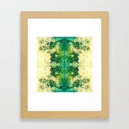 214 - Digital Ink blot design Framed Art Print