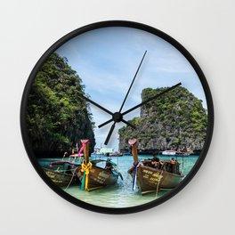 Colorful Tour Boats Phuket Thailand Wall Clock