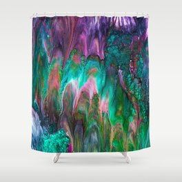 Colorful wild enigma flowing colors Shower Curtain