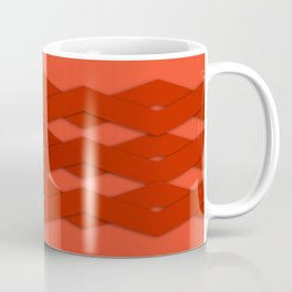 Beautiful Red Zigzag Design Coffee Mug