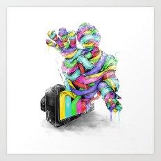 the mummy on air Art Print