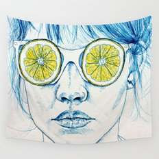 Lemon Lady Wall Tapestry