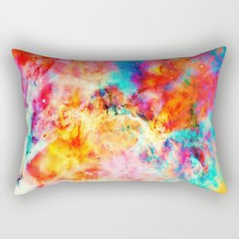 Colorful Abstract Nebula Rectangular Pillow
