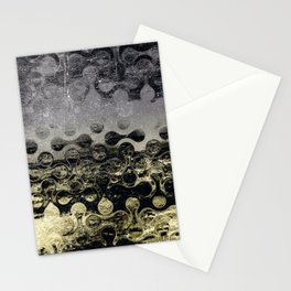 Distressed Silver Gold Multi Pattern Abstract Stationery Cards