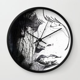 Splattered Portrait Wall Clock
