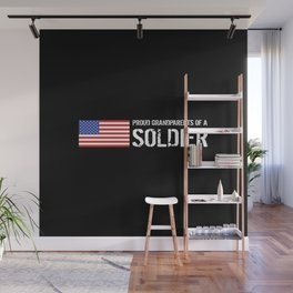 Proud Grandparents of a Soldier Wall Mural