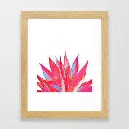 Sunny Agave Fringe Illustration Framed Art Print