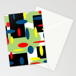 Random Retro with Black Stationery Cards