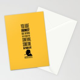Lab No. 4 - Winston Churchill Inspirational Quotes Poster Stationery Cards