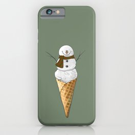 Frosty the Snowman Ice Cream Cone iPhone Case