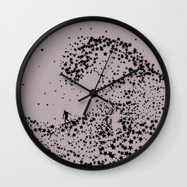 Night Surfer Wall Clock