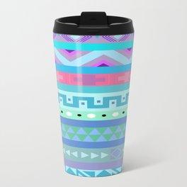 Calm Colored Tribal Print Travel Mug