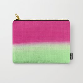 Modern abstract watermelon pink color block Carry-All Pouch