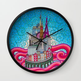 babel tower Wall Clock