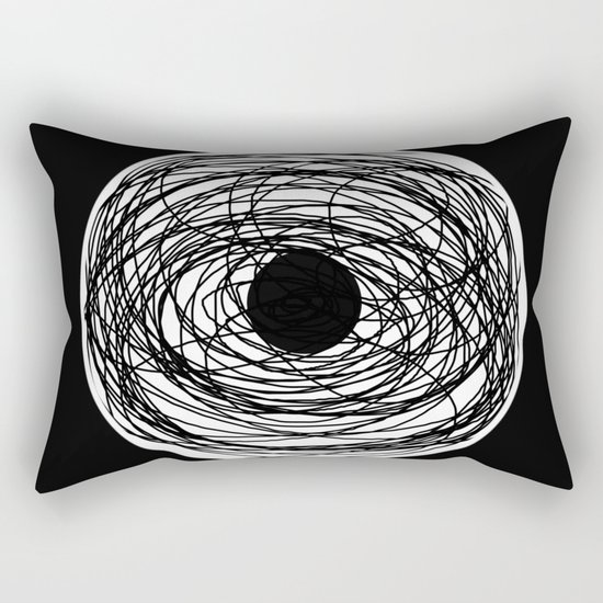 Eye Of The Storm - Abstract, black and white, minimalistic, minimal artwork Rectangular Pillow