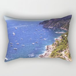 Mediterranean Of Boats Rectangular Pillow