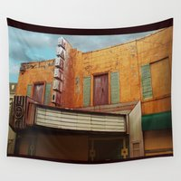 theater Wall Tapestries featuring The Crumbling Martin Theater by Little Bunny Sunshine