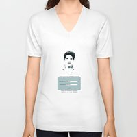 allison argent V-neck T-shirts featuring His username is Allison?  by Amy Mancini