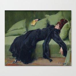 A DECADENT GIRL - RAMON CASAS Canvas Print