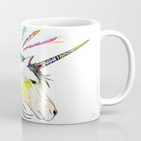 unicorn Mugs featuring Unicorn by Belén Segarra