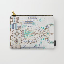 Santa Fe Garden – Turquoise & Brown Carry-All Pouch