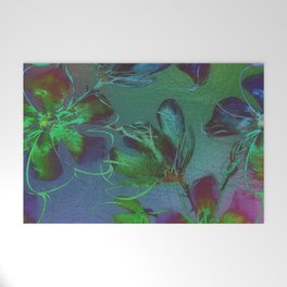Jewel Toned Flowers Welcome Mat