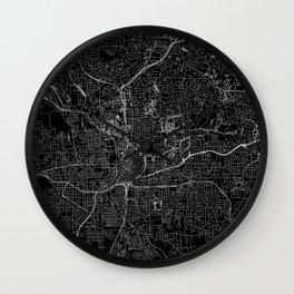 Atlanta Black Map Wall Clock