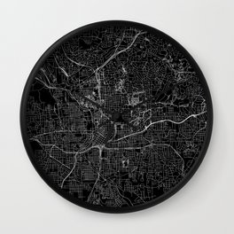 Atlanta Black Map Wall Clock