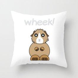 Funny Animal Guinea Pig Tshirt Design wheek Throw Pillow